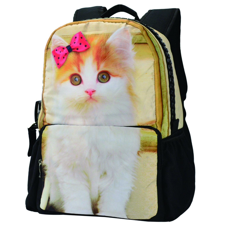 Mochila escolar cremallera muchos bolsillos diseño de animal