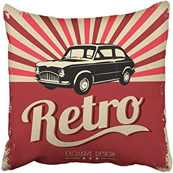 Amazoncom Throw Pillow Cover Polyester 18x18 Inch Decorative Red