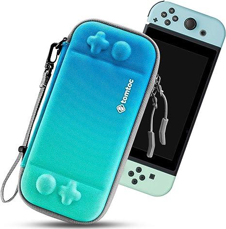tomtoc Funda Ultra Delgada para Nintendo Switch, Patente Original Estuche Rígido con más Espacio de Almacenamiento para 10 Juegos, Case de Transporte con Proteción de Nivel Militar, Azul torcido: Amazon.es: Electrónica