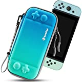 tomtoc Ultra Slim Carry Case for Nintendo Switch, 10 Game Cartridges Hard Shell Storage Case, Protective Carrying Case for Tr