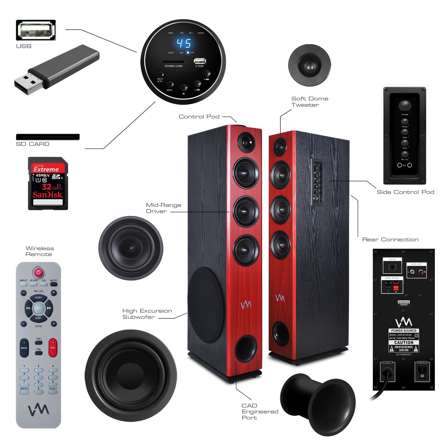 mini speakers floors soundbox standing and enjoy time floor stereo music speaker bluetooth wireless portable product long to