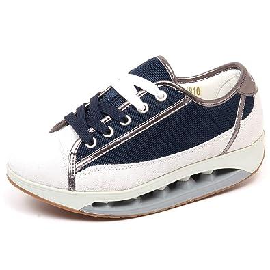 Scholl F3928 Sneaker Donna BluGrey Starlit Scarpe Suede