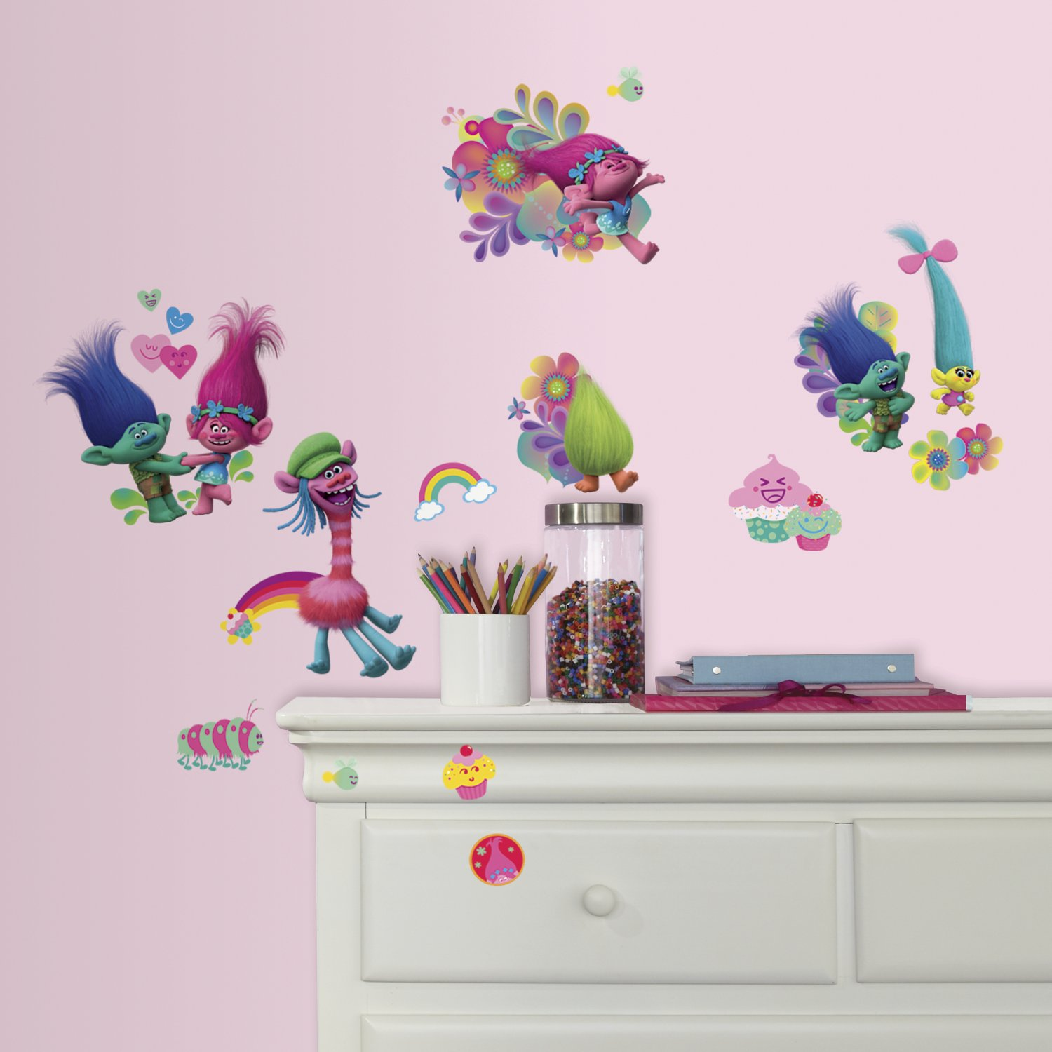 Roommates rmk3400scs trolls wall decals amazon amipublicfo Choice Image