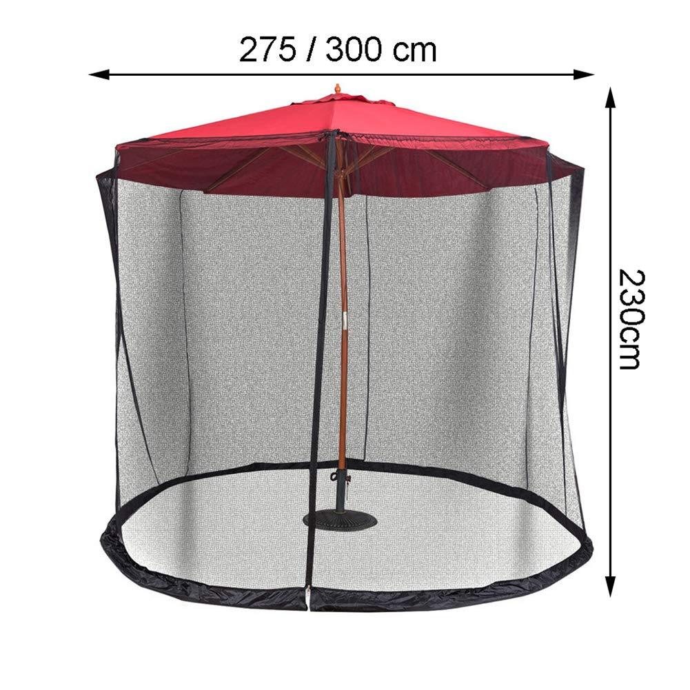 para Sombrillas Y Mesas De Patio,275x230cm GLXQIJ Malla De Mosquitero Sombrilla Y Tubo De Agua En La Base