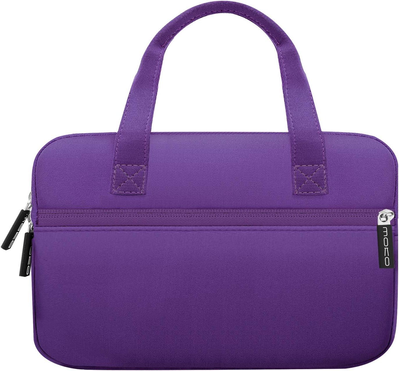 MoKo 7-8 Inch Kids Tablet Sleeve, Portable Neoprene Carrying Case Bag Fits Fire HD 8 Kids Edition 2018/2017, Fire 7 Kids Edition, Fire HD 8 Plus/Fire HD 8 2020, Fire 7, Kindle E-Reader, Purple