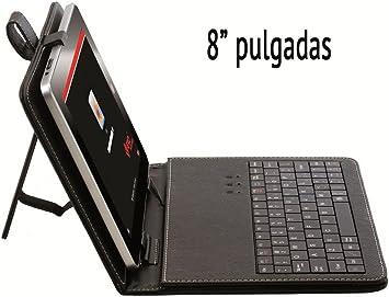 Funda de tablet con teclado de 8