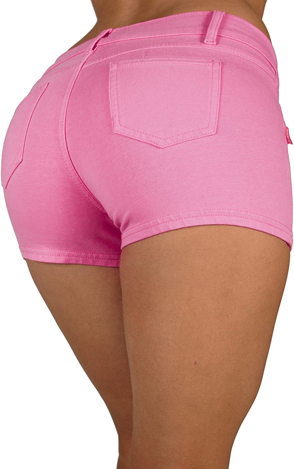 Basic Booty Shorts Premium Stretch French Terry with Gentle Butt Lift Stitching