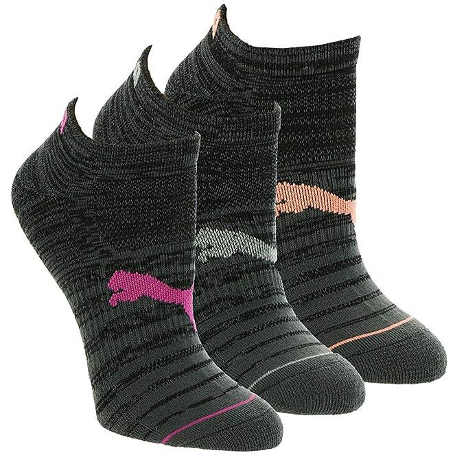 PUMA Women's 6 Pack Low Cut Socks P113575, BlackCoral, 9 11