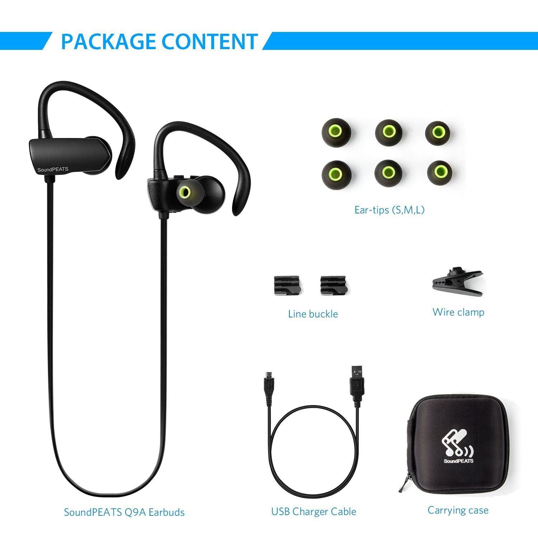SoundPEATS inalámbrico auriculares, True estéreo inalámbricos Bluetooth 4,1 auriculares inalámbricos auriculares in-ear auriculares a prueba de sudor con ...