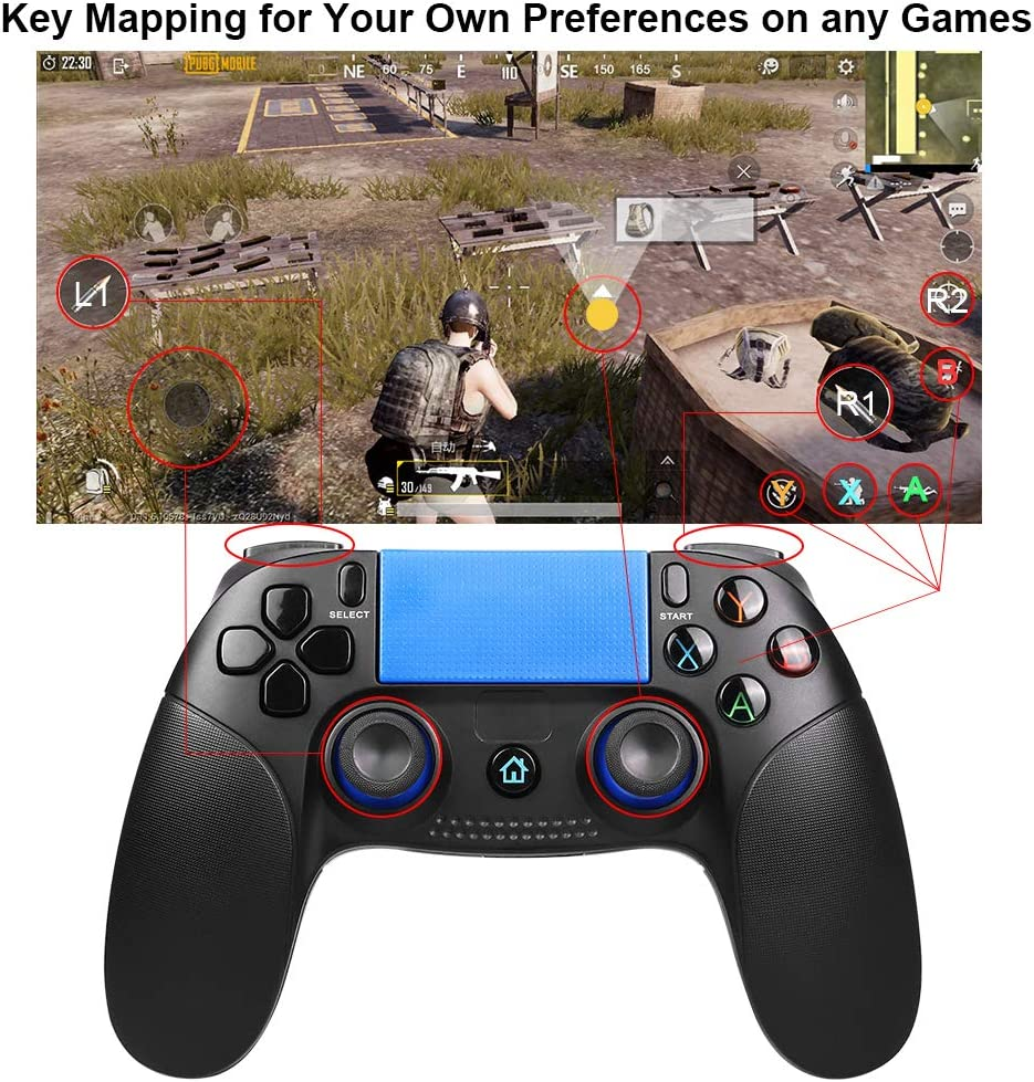 Green Mobile Game Controller PowerLead PG8718 Wireless 4.0 Game Controller