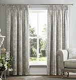 "Coppia di tende foderate in lino naturale, motivo floreale, adatte a tutte le stanze, Natural, 46x72""/117x137cm"