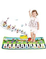 Tapis musical, BelleStyle Baby Musical Piano Tapis de jeu Tapis de jeu Musical Instrument Touch Jeu Clavier Gym Tapis de jeu pour enfants