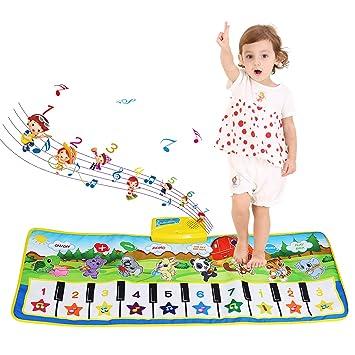 BelleStyle Musical Teppich, Baby Musical Piano Spielteppich