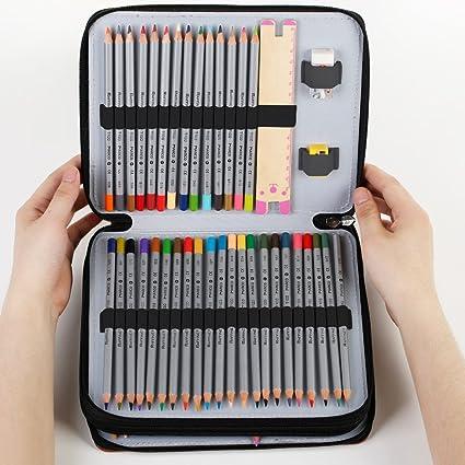 Zilong Estuches para Lápices 127 Ranuras Bolsa de Lápices Multicapa y capacidad grande para lápiz/sacapuntas/borrador/un regalo para estudiantes y ...