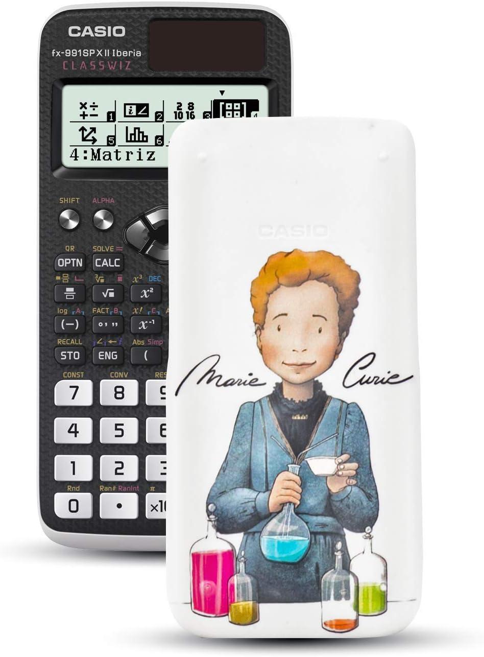 576 Funktionen, 12-stellig, SOLAR schwarz//wei/ß Casio FX-991SPXII Iberia Wissenschaftlicher Taschenrechner
