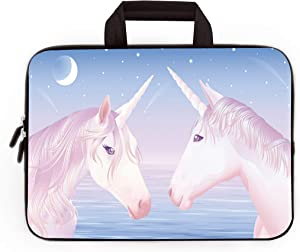 HYUTOTA 11 11.6 12 12.1 12.5 inch Laptop Carrying Bag Chromebook Case Notebook Ultrabook Bag Tablet Cover Neoprene Sleeve Fit Apple MacBook Air Samsung Google Acer HP DELL Lenovo Asus(Two Unicorns)