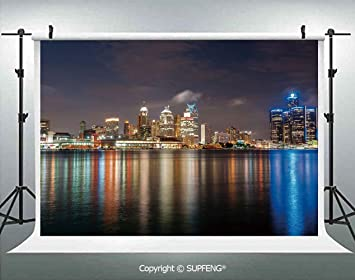 Amazon Com Photo Backdrop Modern Metropolis Cityscape At