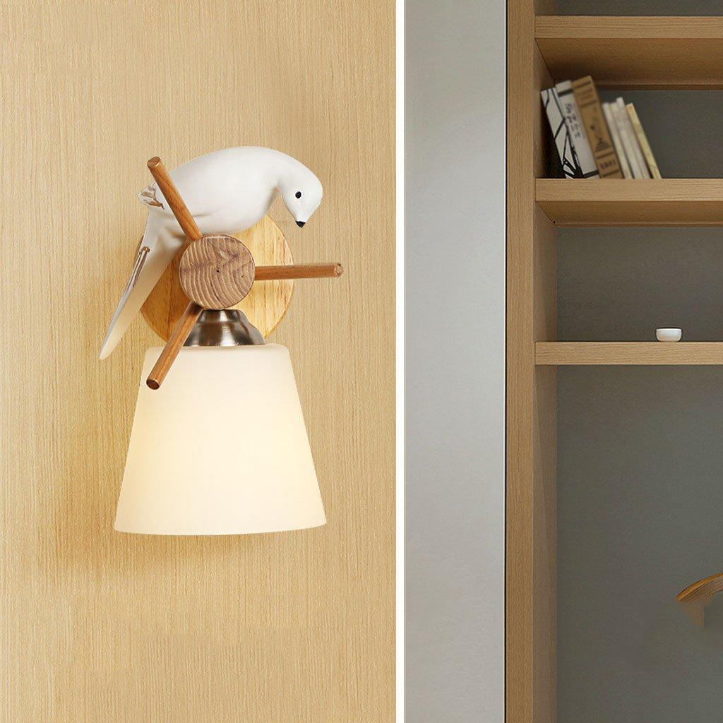 Unbekannt Met Love Kreative Moderne Minimalistische Wohnzimmer Wand Holz Dekorative Lampe Schlafzimmer Restaurant Massivholz Vogel Wandleuchte
