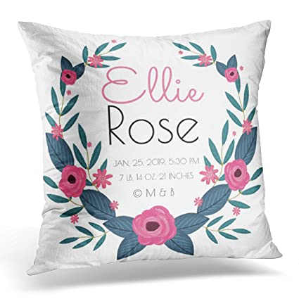 6b1dbe5c9ab27 Amazon.com: Emvency Throw Pillow Cover Floral Keepsake Personalized ...