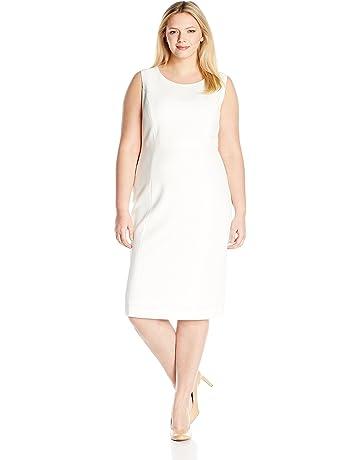 f14bd4d62e82 Kasper Women's Plus Size Stretch Crepe Sheath Dress