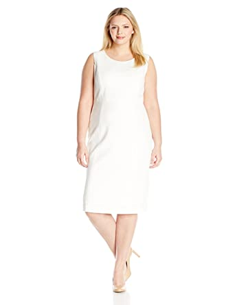04390f45bd Kasper Women s Plus Size Stretch Crepe Sheath Dress at Amazon Women s  Clothing store