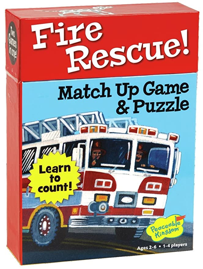 Peaceable Kingdom Correspondientes números de bomberos rescate ...