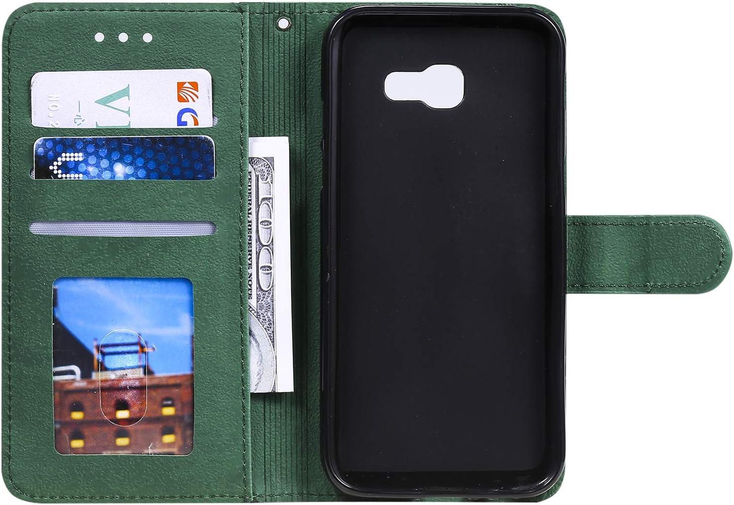 Schutzh/ülle Brieftasche mit Kartenfach Klappbar Magnetisch Sto/ßfest Handyh/ülle Case f/ür Samsung Galaxy A5 2017//A520F LOHHA150084 Schwarz Lomogo Galaxy A5 2017 H/ülle Leder