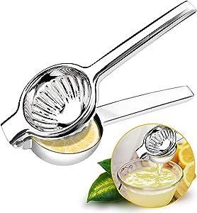 Lemon Squeezer Handheld Citrus Press Juicers Squeezer CWM Stainless Steel 304 Lime Juice Squeezer Heavy Duty Hand Manual Food Grade Metal Squeezer Bowl