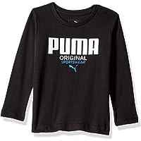 PUMA Toddler Boys' Long Sleeve T-Shirt, Black