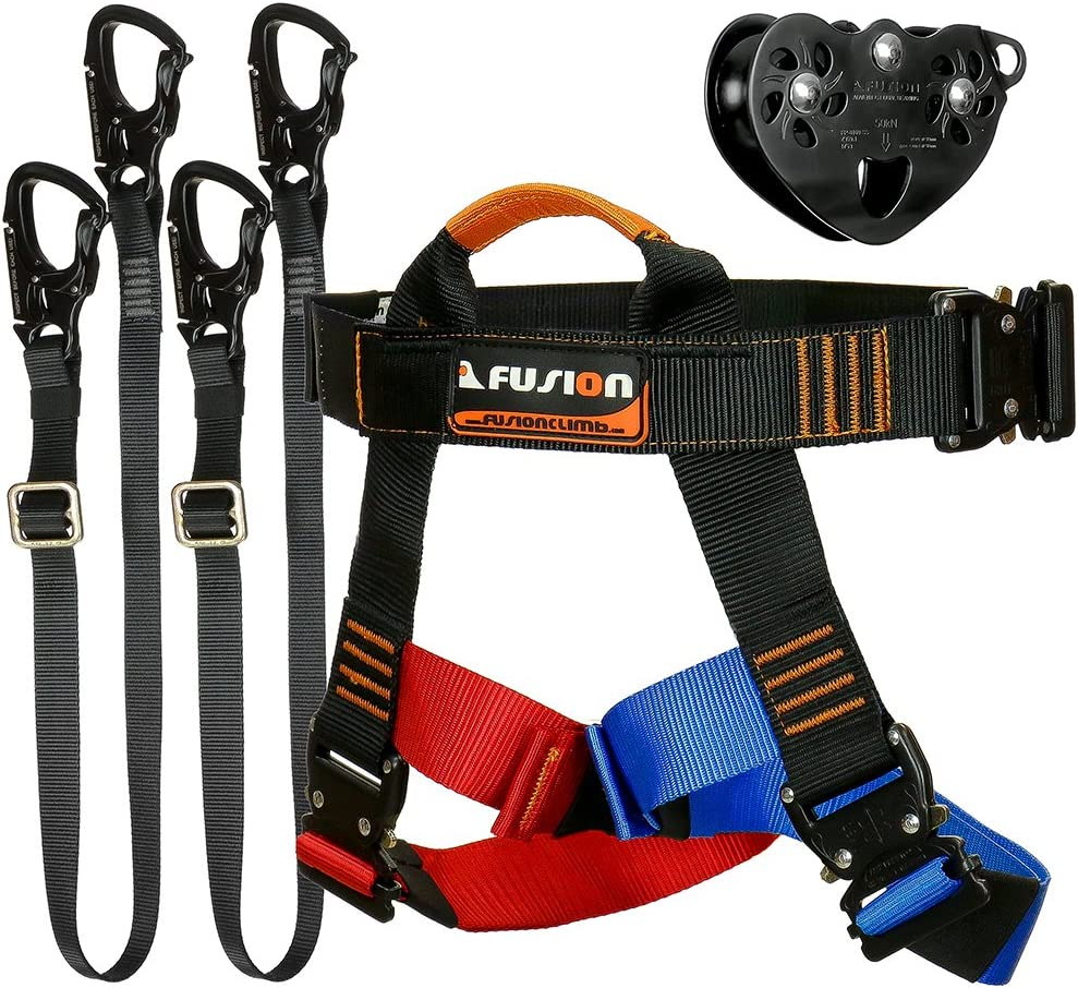 Fusión Climb Tactical Edition adultos Comercial Kit Zip Line Arnés ...
