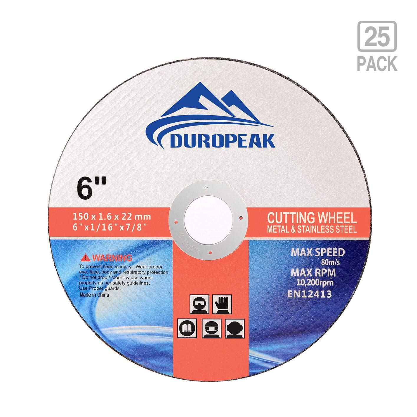 "50 Pack 6/""x.045/""x7//8/"" Cut-off Wheel Metal /& Stainless Steel Cutting Discs"