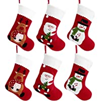 TOYVIAN 6 Medias de Navidad Decoracion, Santa Claus