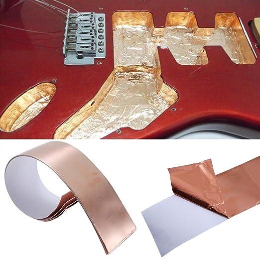 Creanoso lámina de cobre de apantallamiento de la cinta para guitarras - conductor doble - Telecaster Stratocaster: Amazon.es: Instrumentos musicales