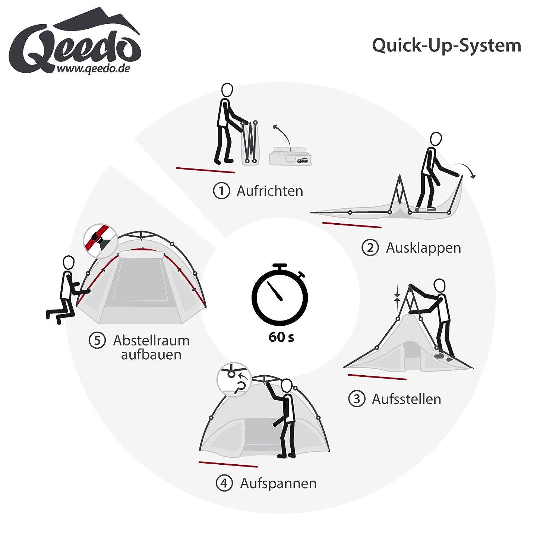Qeedo - Quick Oak Sekundenzelt 3 Personen Sekundenzelt Oak mit Quick-Up-System 22a97a