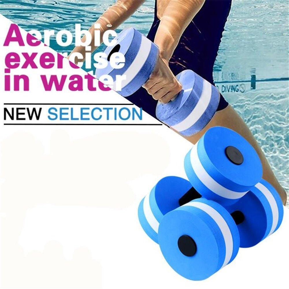 438bc57ae94 Green Strength Training Equipment Dumbbells 1 Pair Swimming EVA Floating Dumbbell  Water Aerobics Aquatic Barbell Fitness Exercise Water Yoga ...