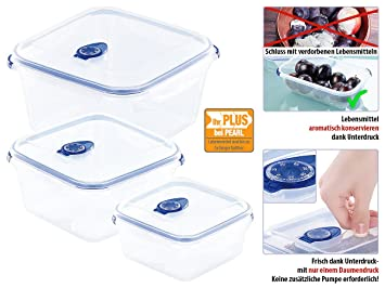Kühlschrank Organizer Stapelbar : Amazon.de: rosenstein & söhne frischhaltedosen: dosen mit vakuumier