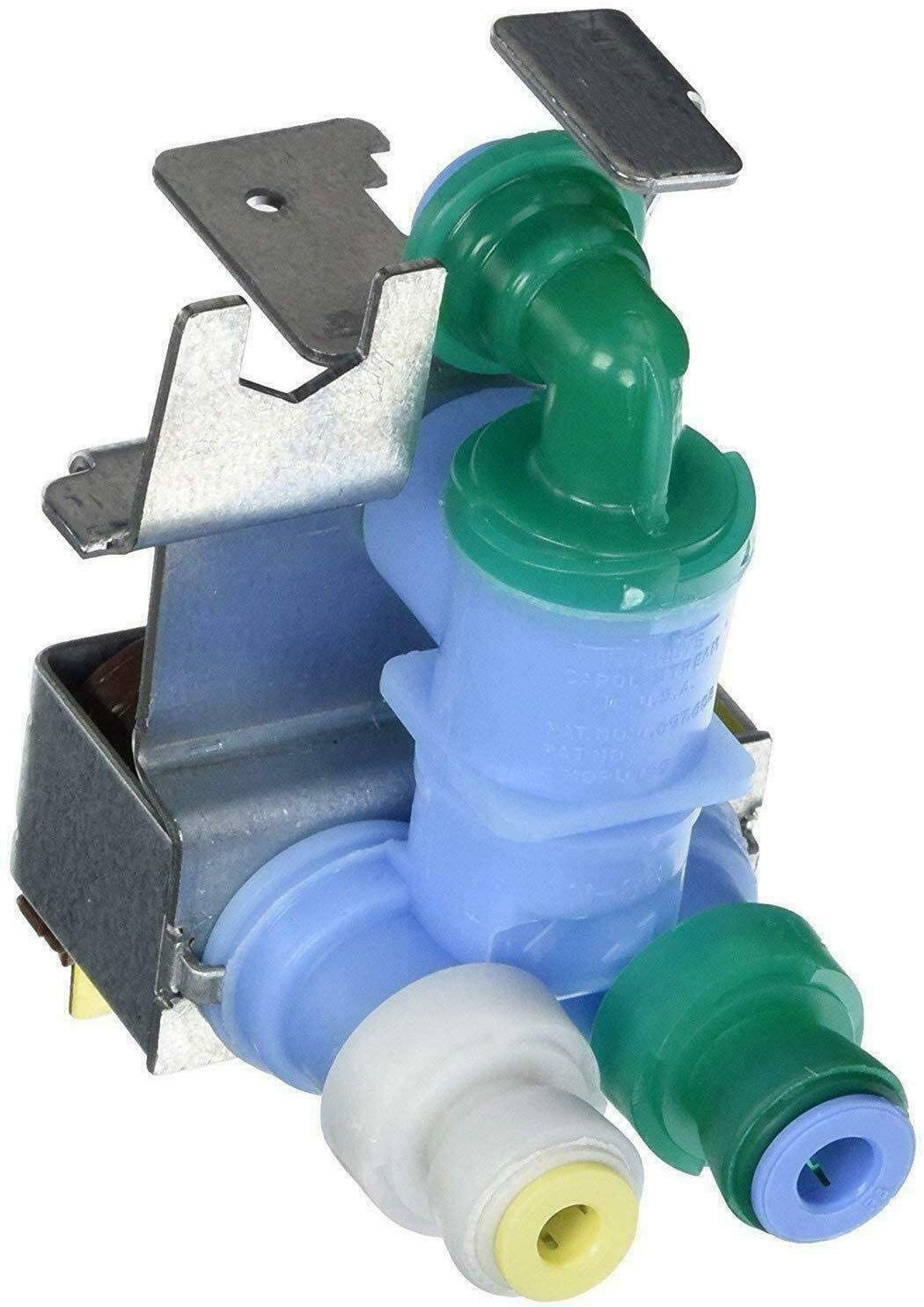 NEW 67006531 Compatible Dual Water Inlet valve for WHIRLPOOL Washer WP67006531, 12544118, PS11743697, AP6010515 made by OEM Manufacturer - 1 YEAR WARRANTY