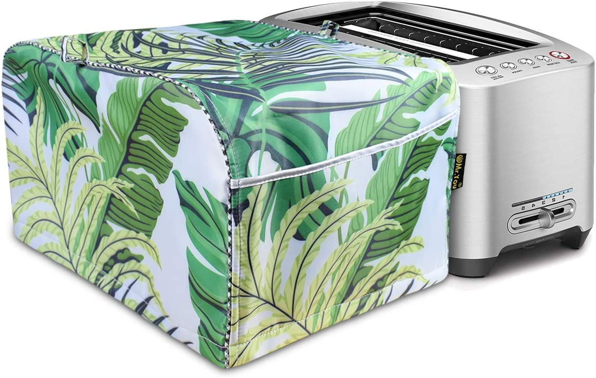 Hot Dog Toaster Cover,Toaster Oven Dust Cover,Four Slice Bread Toaster Cover,Cover for air fryer with Accessory Pocket Compatible(Forest)