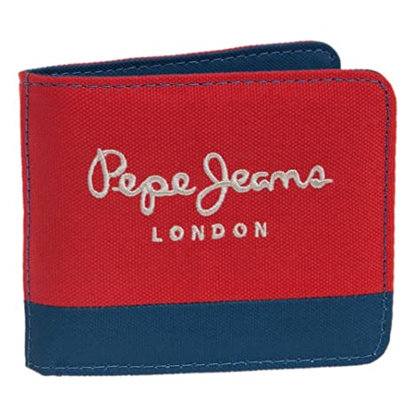 Pepe Jeans Bicolor Boy Monedero, 0.19 litros, Color Rojo