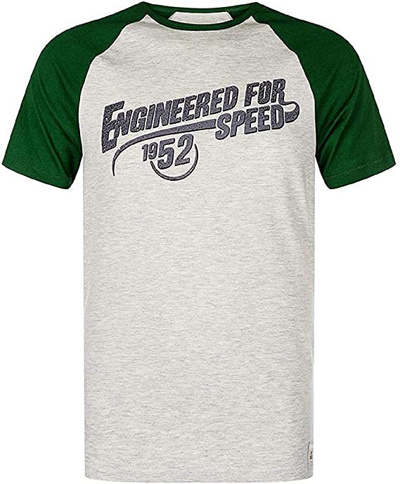 Kawasaki Camiseta Hombre Engineered para Speed Verde/Gris - Gris, M: Amazon.es: Ropa y accesorios