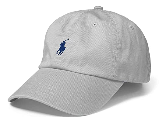 2c7ea6ef03ecdc Polo Ralph Lauren Men`s Cotton Chino Baseball Cap (Light Grey (2001)/Navy, One  Size) at Amazon Men's Clothing store: