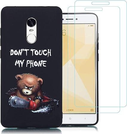 jrester Funda Xiaomi Redmi Note 4 / Note 4X,Oso de la Motosierra ...