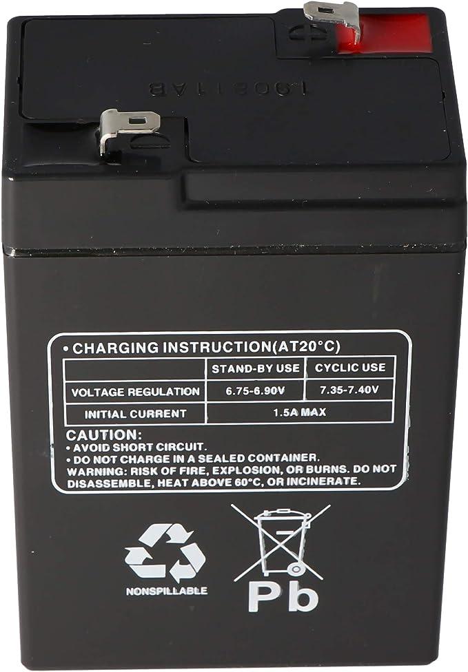 Multipower Lead Battery 6 V 4 5ah 101x45x70 Mm Battery Elektronik