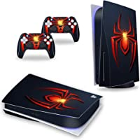 PS5 Spiderman Skin Vinyl Sticker Dustproof Anti-Scratch Skin Wrap for Playstation 5 Disc Version Console and Dualsense 5…
