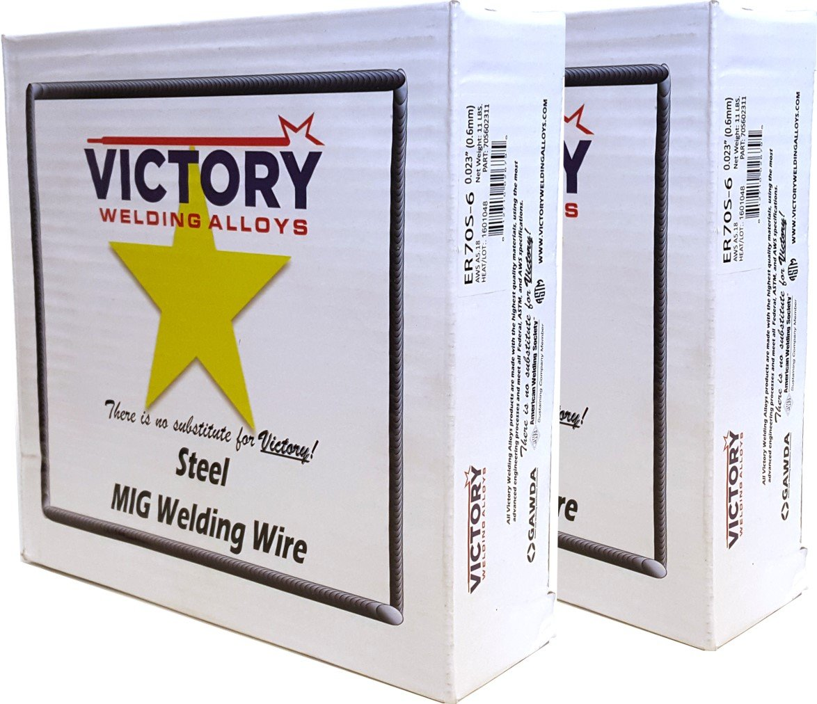ER70S-6 - MIG Mild & Low Alloy Steel Welding Wire - 11 Lb x 0.023'' (2 SPOOLS)