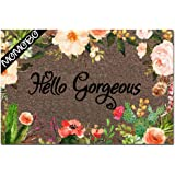 MOMOBO Funny Doormat Custom Indoor Doormat -Hello Gorgeous Funny Front Mats Home and Office Decorative Entry Rug Garden/Kitch