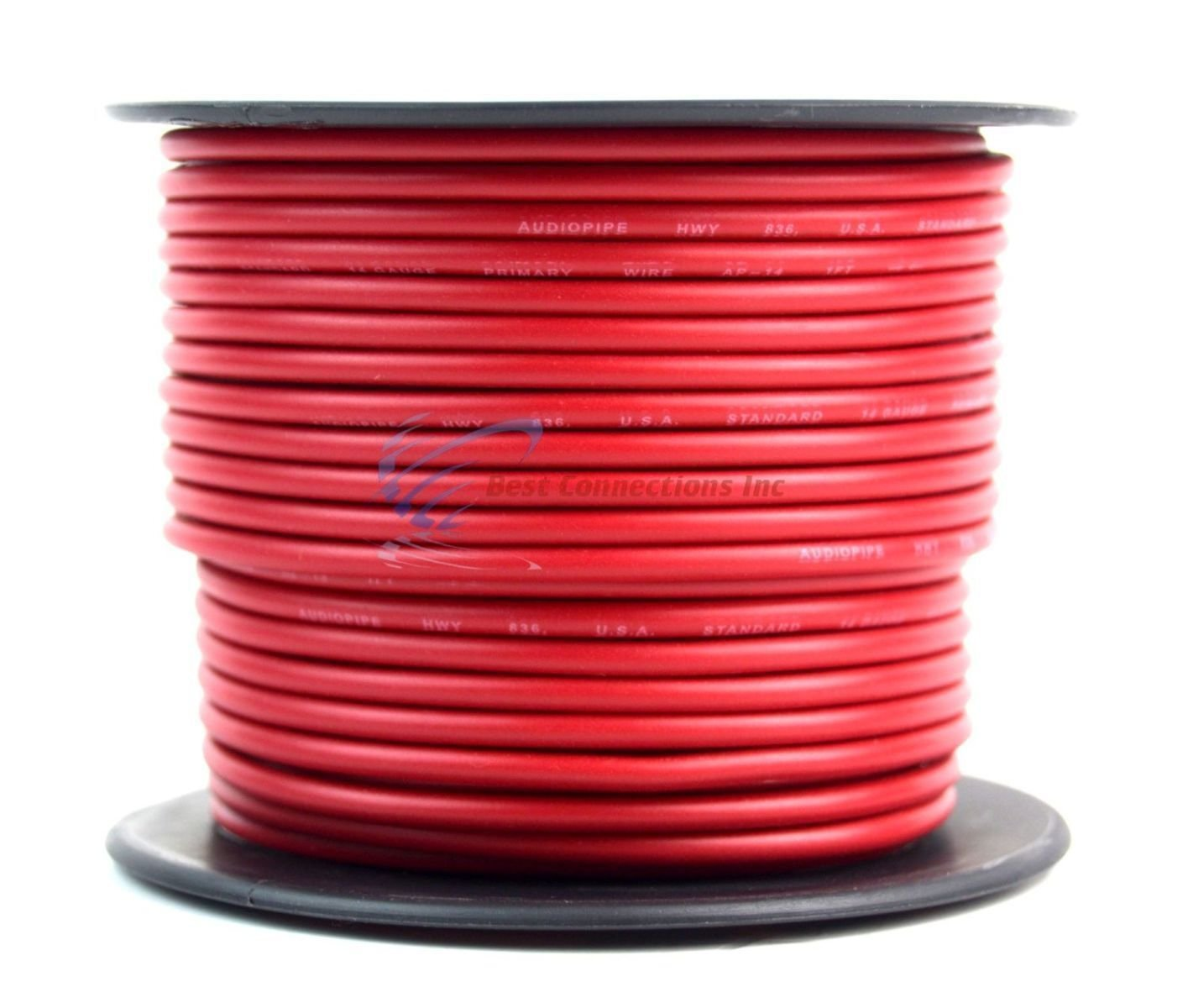 Best Connections LYSB01ANZRXDI-ELECTRNCS 14 GAUGE WIRE RED /& BLACK POWER GROUND 100 FT EACH PRIMARY STRANDED COPPER CLAD Audiopipe