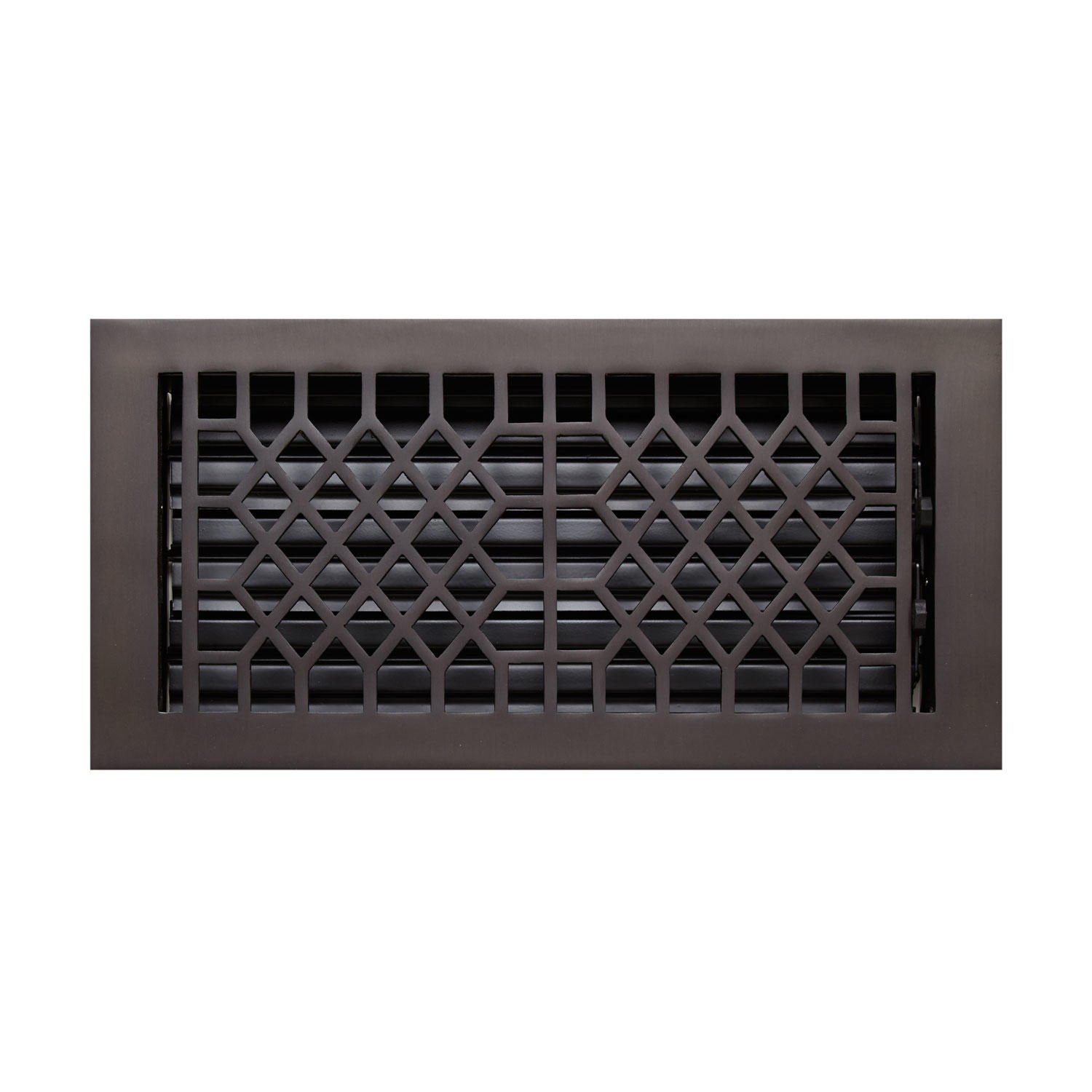 Naiture 2-1/4'' x 10'' Solid Brass Floor Register Antique Style In Oil Rubbed Bronze Finish by SH
