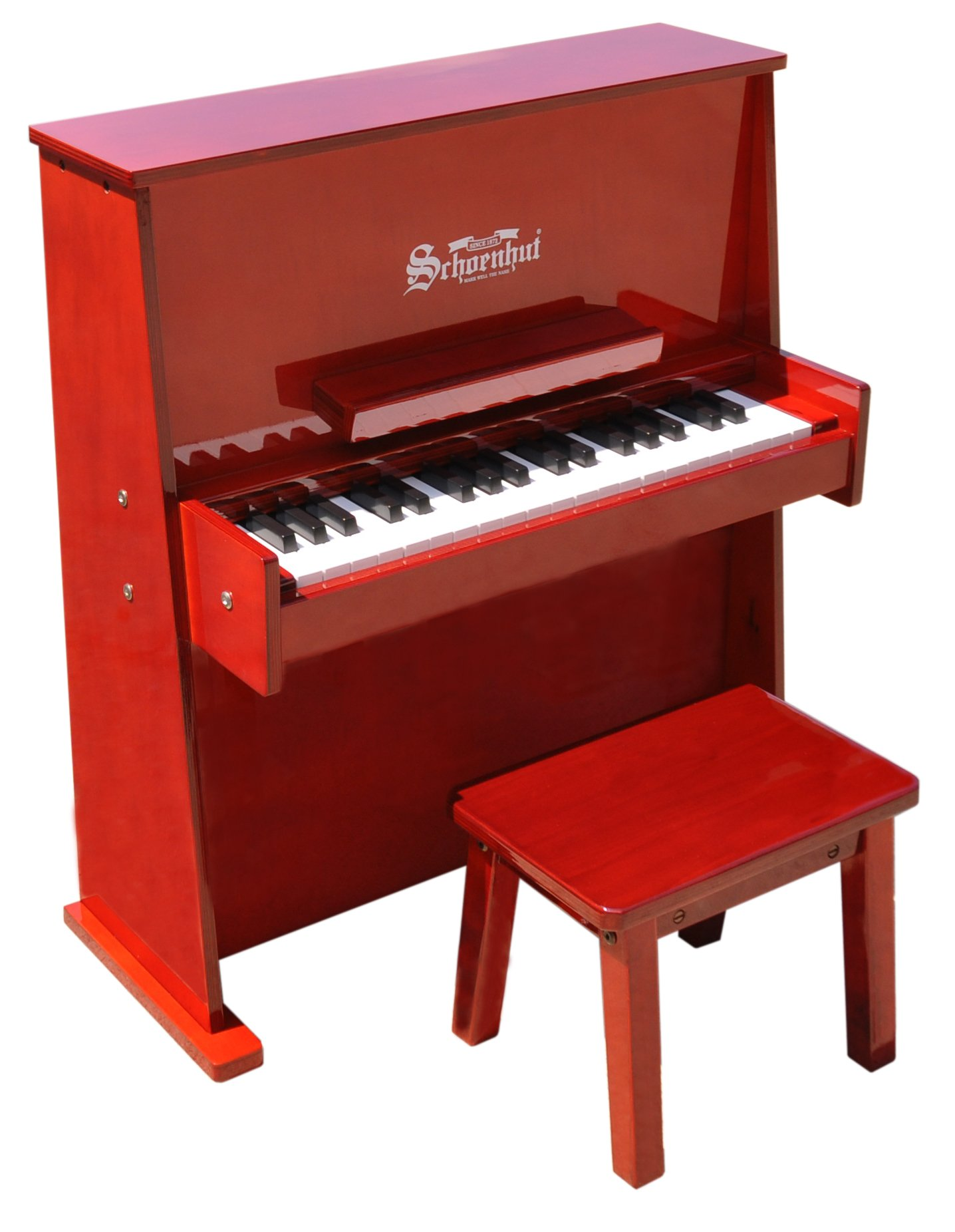 Schoenhut 3798M - 37 Key Day Care Durable with Bench (Mahog)