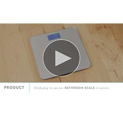 Balance High Accuracy Bathroom Scale with Easy-to-Read Backlit LCD & 5-Year Warranty